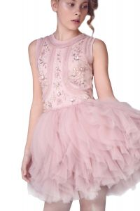 Ooh! La, La! Couture Little Girls Mauve Faberge Fancy Christmas Dress 2T-5