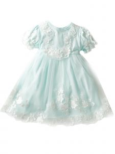 Baby Girls Multi Color Flower Lace Tulle Skirt Headband Easter Dress 9-24M