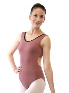 Veva by Very Vary Big Girls Mocha Pixie Dance Leotard 8-12