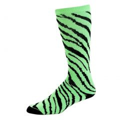 Pizzazz Lime Zebra Stripe Knee High Sock Cheer Dance Girl 8-Women 12