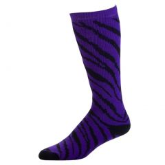 Pizzazz Purple Zebra Stripe Knee High Sock Cheer Dance Girl 8-Women 12