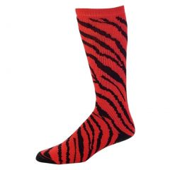 Pizzazz Red Zebra Stripe Knee High Socks Cheer Dance Girl 8-Women 12