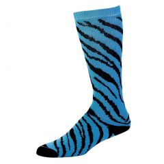 Pizzazz Turquoise Zebra Stripe Knee High Socks Cheer Girl 8-Women 12