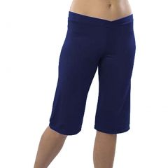 Pizzazz Girl Navy Blue Microfiber Cropped Cheer Dance Wear Pants 2T-16