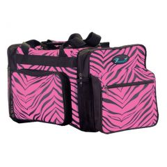 Pizzazz Hot Pink Zebra Print Girls Dance Sport Travel Bag
