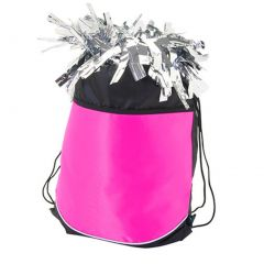 Pizzazz Girls Hot Pink Stringpack Pom Cheer Dance Backpack Bag