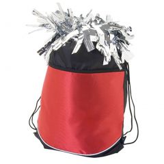 Pizzazz Girls Red Stringpack Pom Cheer Dance Backpack Bag