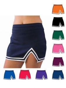 Pizzazz Women Multi Color A-Line V-Notch Uniform Skirt Adult S-2XL