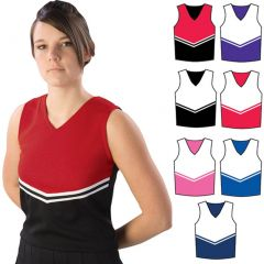 Pizzazz Red White Cheer Uniform Top Adult 2XL