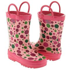 Pluie Pluie Toddler Little Girls Pink Polka Dot Rain Boot Shoes 5-4
