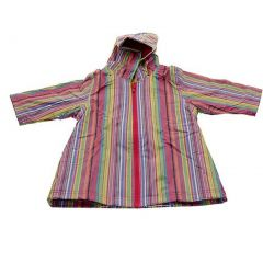 Pluie Pluie Girls Outerwear Pink Stripe Print Unlined Raincoat 12M-8