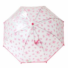 Pluie Pluie Girls Transparent Fuchsia Bow Umbrella