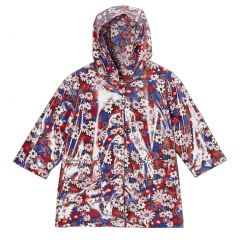 Pluie Pluie Big Girls Brown Floral Unlined Rain Coat Outerwear 7-10