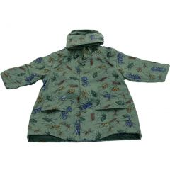 Pluie Pluie Little Boys Green Bug Unlined Raincoat Outerwear 12M-8