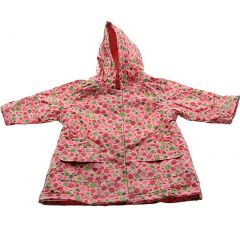 Pluie Pluie Girls Outerwear Pink Polka Dot Unlined Raincoat 12M-8