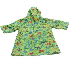 Pluie Pluie Boys Outerwear Green Frog Unlined Raincoat 12M-8