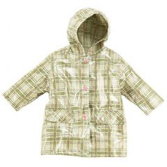 Pluie Pluie Little Girls Green Plaid Unlined Raincoat Outerwear 12M-8