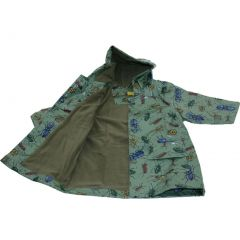 Pluie Pluie Little Boys Green Bug Lined Raincoat Outerwear 12M-8