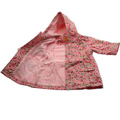 Pluie Pluie Girls Outerwear Pink Polka Dot Lined Raincoat 12M-8