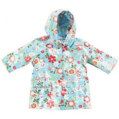 Pluie Pluie Little Girls Blue Floral Lined Raincoat Outerwear 12M-10