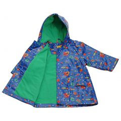 Pluie Pluie Blue Outerspace Lined Boys Raincoat Outerwear 12M-8