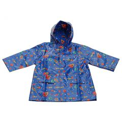 Pluie Pluie Blue Outerspace Unlined Boys Raincoat Outerwear 12M-8