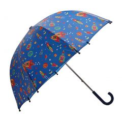 Pluie Pluie Blue Outerspace Rocket Kids Umbrella Raingear