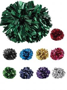 Pizzazz Girls Multi Color Metallic Baton Handles Cheerleading Pom Pom