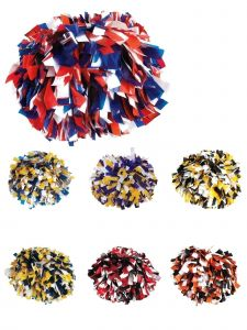 Pizzazz Girls Multi 3 Color Plastic Cheerleading Pom Pom