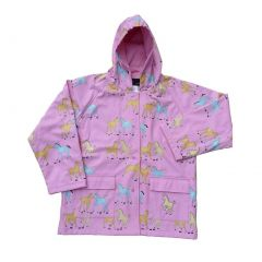 Baby Girls Pink Pony Rain Coat 1T