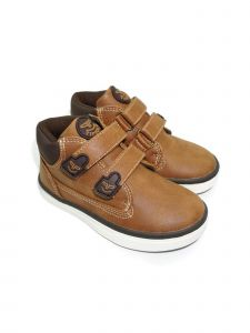 Pipiolo Little Boys Tan High Top Double Adhesive Strap Sneakers 9 Toddler