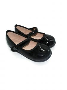 Pipiolo Girls Black Patent Strap Mary Jane Ballerina Flats 3 Baby-10 Toddler