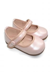 Pipiolo Girls Metallic Pink Strap Mary Jane Ballerina Flats 3 Baby-10 Toddler