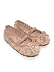 Pipiolo Girls Pink Sparkling Mary Jane Ballerina Flats 4 Baby-10 Toddler