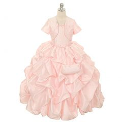 Rain Kids Pink Pick Up Special Occasion Dress Little Girls 2T-6