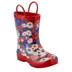 Pluie Pluie Girls Brown Red Flower Rain Boots 5-10 Toddler