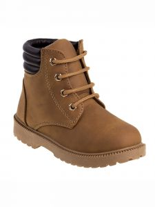 Rugged Bear Boys Tan Rubber Sole Casual Lace Up Boots 11-4 Kids