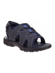 Rugged Bear Boys Navy Blue Elastic Lace Slingback Strap Sport Sandals 11-4 Kids
