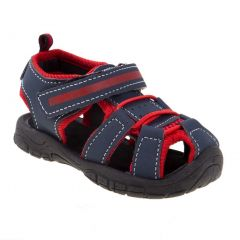 Rugged Bear Little Boys Blue Caged Athletic Trendy Sandals 5-10 Toddler