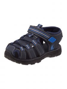 Rugged Bear Boys Navy Blue Caged Closed Toe Athletic Sandals 11-4 Kids