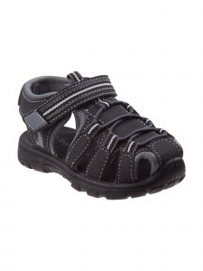 Rugged Bear Little Boys Black Gray Caged Closed Toe Sandals 5-10 Toddler