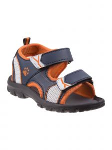 Rugged Bear Boys Navy Orange Grippy Outsole Athletic Sandals 11-4 Kids