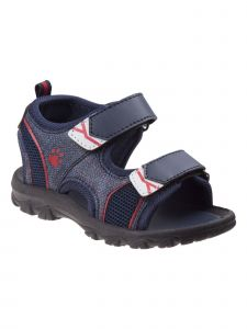 Rugged Bear Little Boys Navy Denim Grippy Outsole Athletic Sandals 5-10 Toddler