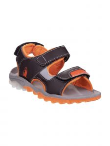 Rugged Bear Boys Brown Orange Active Durable Traction Sole Sandals 11-3 Kids