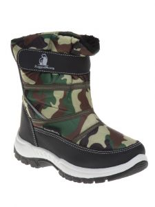 Rugged Bear Unisex Camouflage Hook And Loop Snow Boots 11-4 Kids