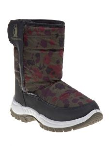 Rugged Bear Boys Olive Hook And Loop Snow Boots 6-10 Toddler
