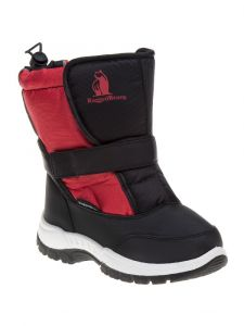 Rugged Bear Girls Black Red Buckle Detail Snow Boots 6 Toddler-4 Kids