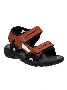 Rugged Bear Little Boys Red Automobile Double Strap Sandals 10 Toddler