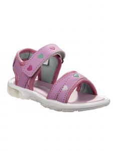 Rugged Bear Little Girls Pink Hearts Soft Footbed Light Up Sandals 5-10 Toddler