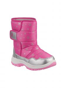 Rugged Bear Girls Silver Pink Icicle Snow Boots 6 Toddler-4 Kids